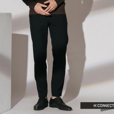 H:CONNECT 韓國品牌 男裝-質感純色西裝褲-黑