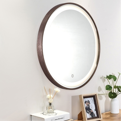 H&R安室家 60cm里昂 智能LED發光觸控圓型燈鏡 ZA0201(掛鏡/浴鏡/化妝鏡/鏡子)