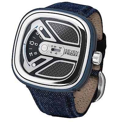 SEVENFRIDAY M 系列城市冒險家自動上鍊機械錶 M1B-01