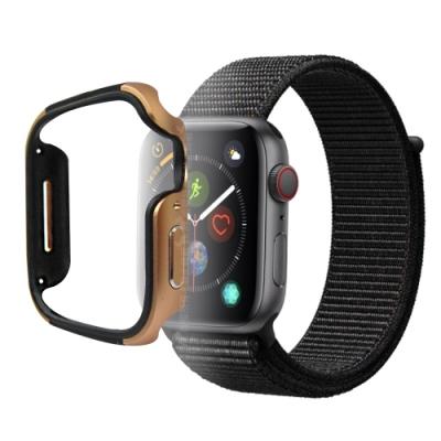 刀鋒Edge Apple Watch Series 5 44mm 鋁合金雙料保護殼 古銅金