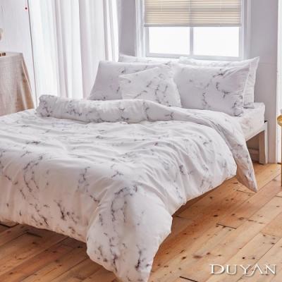DUYAN竹漾 MIT 天絲絨-單人床包枕套兩件組-大理石狂熱者