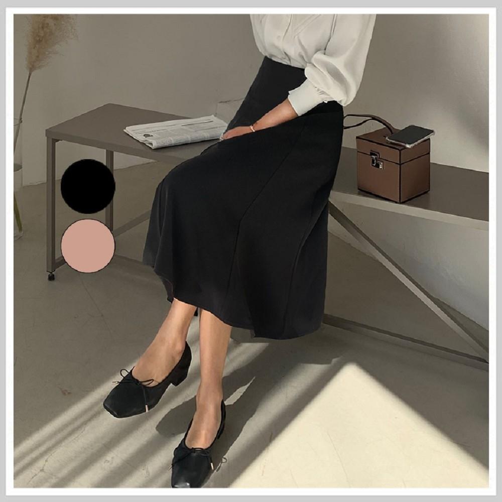 長裙 高腰優雅質感魚尾長裙PV9440-創翊韓都