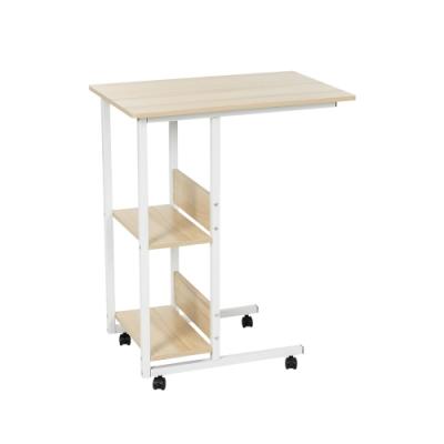樂嫚妮 多功能電腦桌/床邊桌/儲物邊桌-附層板收納-楓櫻木色-寬60X深40X高75cm