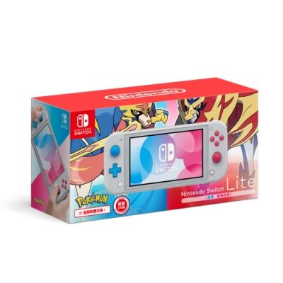 (預購)任天堂Switch Lite 寶可夢限量主機+劍盾雙重包+包+貼