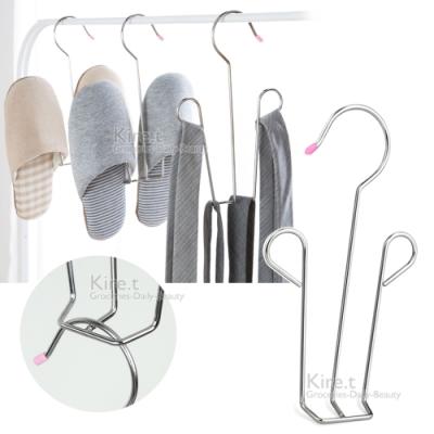 kiret [超值5入] 耐用實心不鏽鋼鞋架-通風式掛勾防風晾曬鞋架