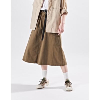 NAVY-大口袋工裝長裙-女【B2NA029】