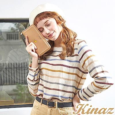 KINAZ x PEANUTS™ 微光詩集ㄇ字型長夾-焦糖咖啡-好日子系列-快