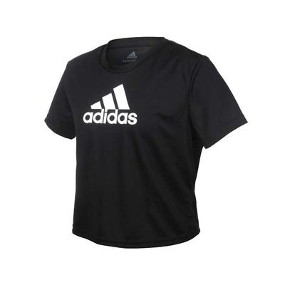 ADIDAS 女短袖T恤-亞規 吸濕排汗 慢跑 路跑 運動 上衣 愛迪達 GL3830 黑白