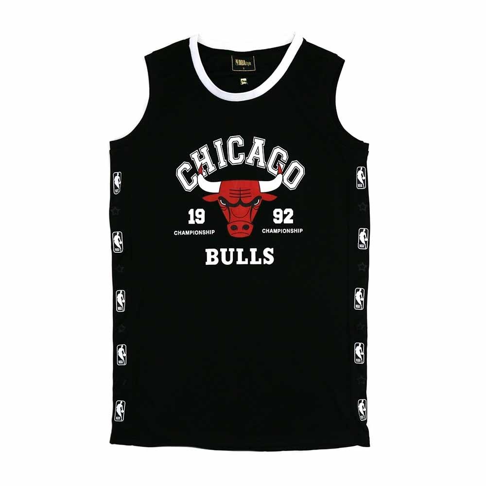 NBA Style C&S O-PIECE 無袖 連身裙 公牛隊