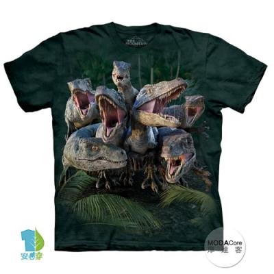 摩達客-預購-美國進口The Mountain 尋七暴龍群 兒童版純棉環保短袖T恤
