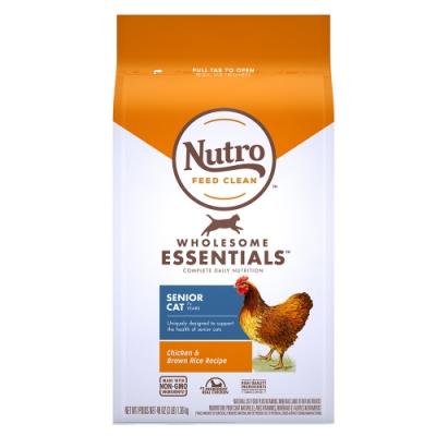 Nutro 美士 全護營養 熟齡貓配方(農場鮮雞+糙米)5磅 2包組
