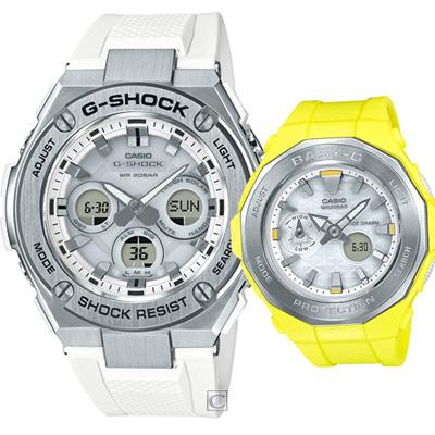 CASIO 卡西歐獨一無二運動對錶-49.3+45.5mm