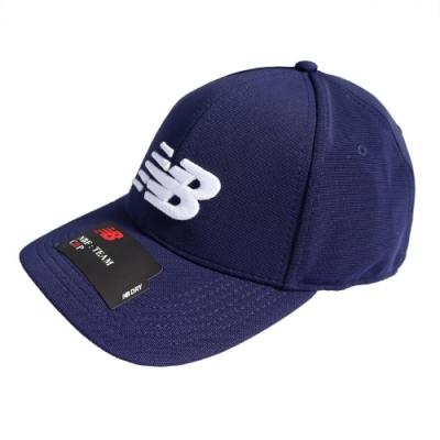New Balance 帽球帽 Baseball Cap 運動休閒 男女款 紐巴倫 老帽 穿搭 遮陽 電繡 藍 白 MH934307PIW