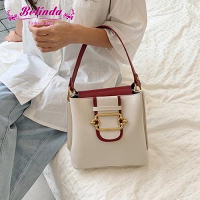 【Belinda】帕多瓦迷你小方側背斜背水桶包(白色)