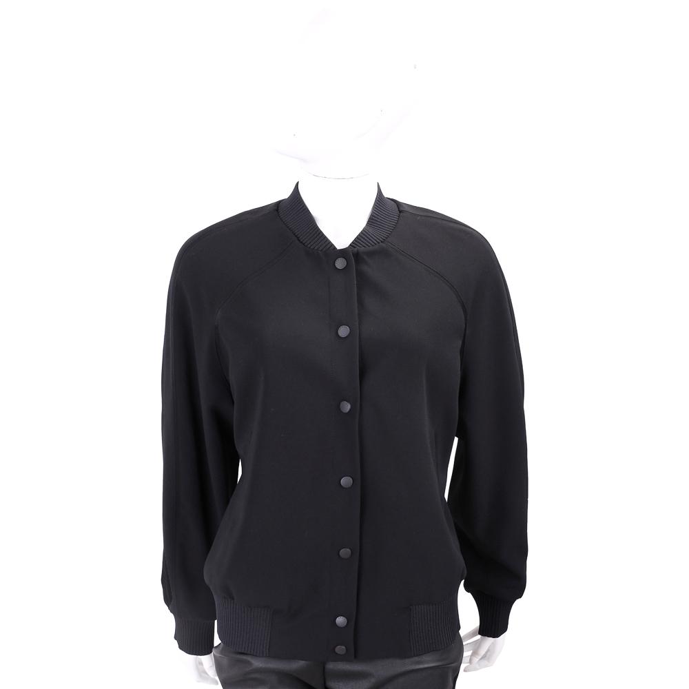 KENZO Tiger 經典虎頭刺繡黑色排釦棒球外套
