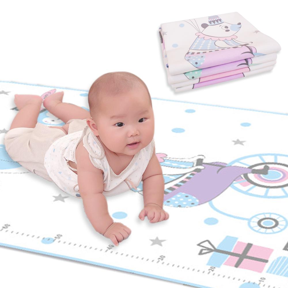 JoyNa嬰兒隔尿墊 牛奶絲防水可洗新生寶寶防尿墊-2件入