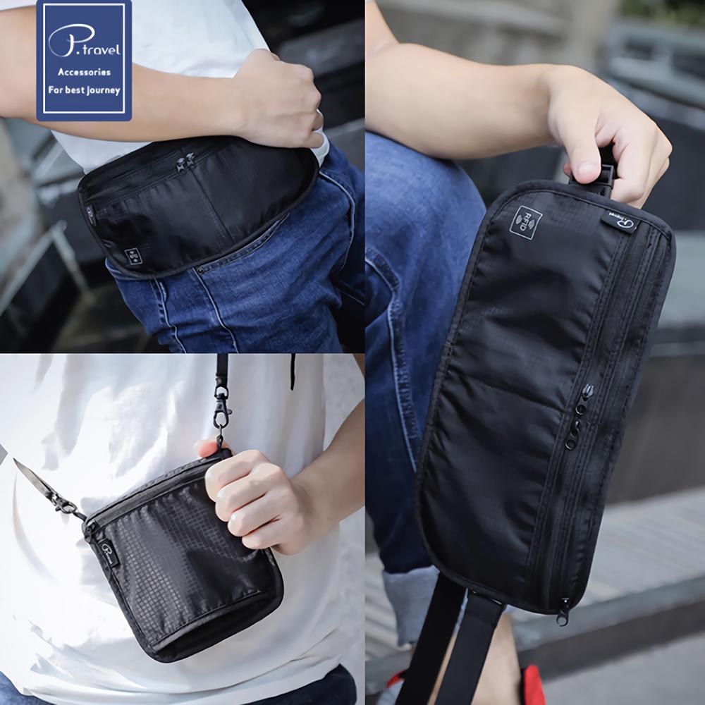 三用防搶包護照包 RFID隱形 隨身防盜 防掃描側錄 腰包側背包 證件護照夾