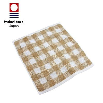 日本今治 純天然有機棉無染色方巾(方格-秋香綠)