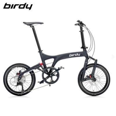 New Birdy(Ⅲ) Standard 9速18吋前後避震縱向折疊車-碳晶黑