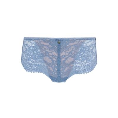 黛安芬-時尚奢華 清新馬鞭草系列透明網布無痕中腰平口內褲 M-EL 溫柔藍