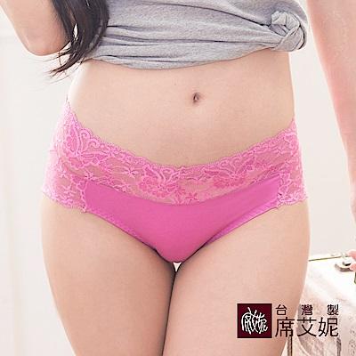 席艾妮SHIANEY 台灣製造(5件組)縲縈纖維  中低腰舒適蕾絲內褲