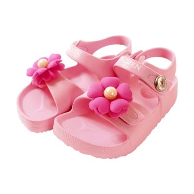 魔法Baby 女童鞋 台灣製冰雪奇緣正版極輕量美型涼鞋 sa04113
