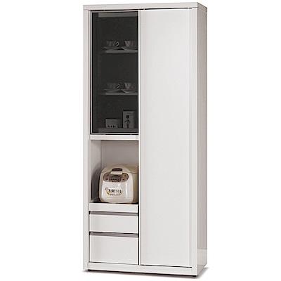 凱曼  喬漢娜2.6X6尺高拉門收納櫃餐櫃