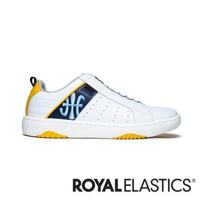ROYAL ELASTICS ICON2.0 白藍黃真皮潮流運動休閒鞋 (男) 06501-053