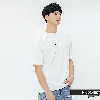 H:CONNECT 韓國品牌 男裝-人像印字T-shirt-白