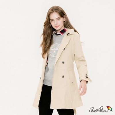 Arnold Palmer-女裝-都會經典風衣外套-卡其色