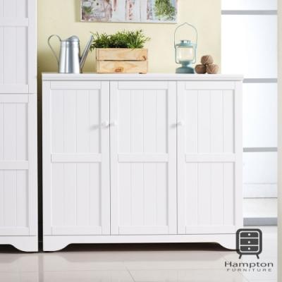 漢妮Hampton雪倫系列純白4尺鞋櫃-120*40*106 cm