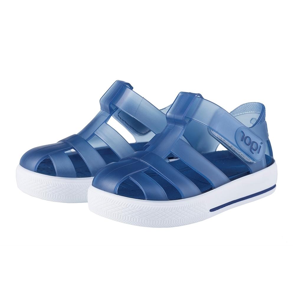 IGOR 西班牙經典果凍小童鞋-藍/白