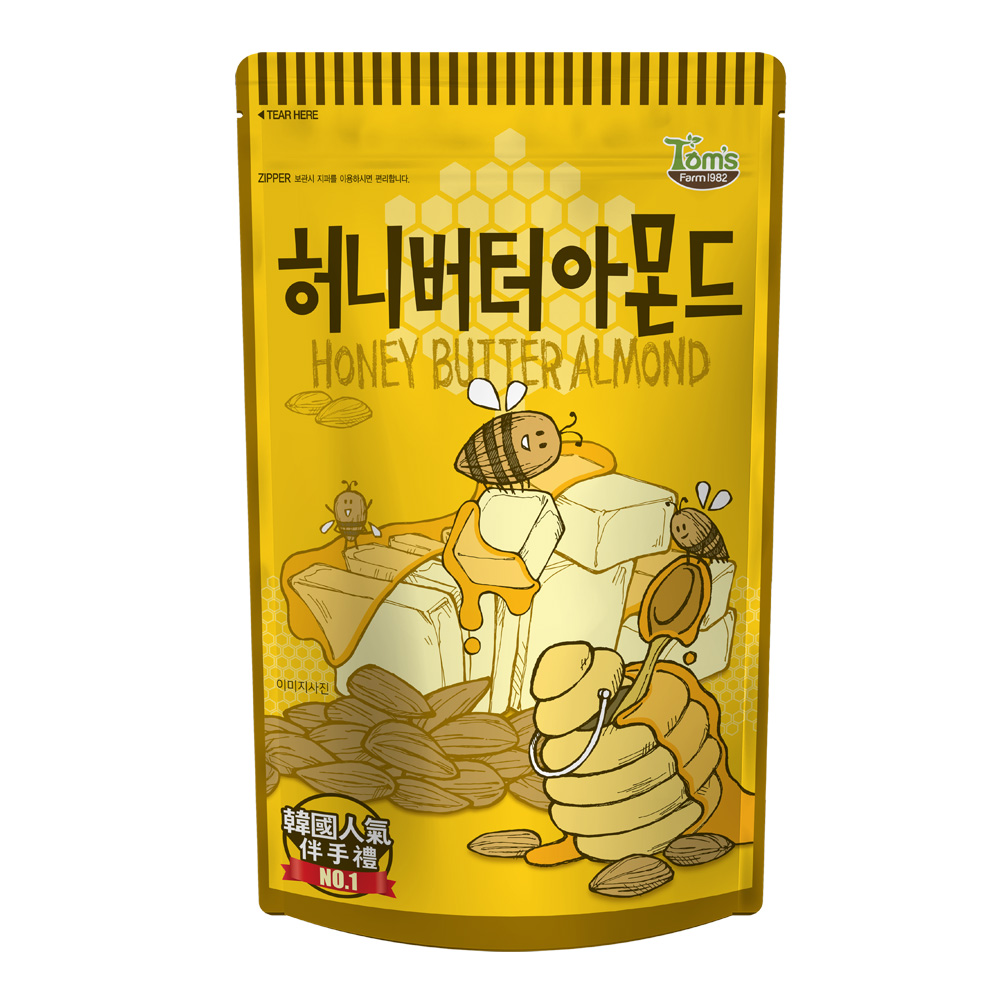 韓國Toms Gilim 杏仁果-蜂蜜奶油味(210g)
