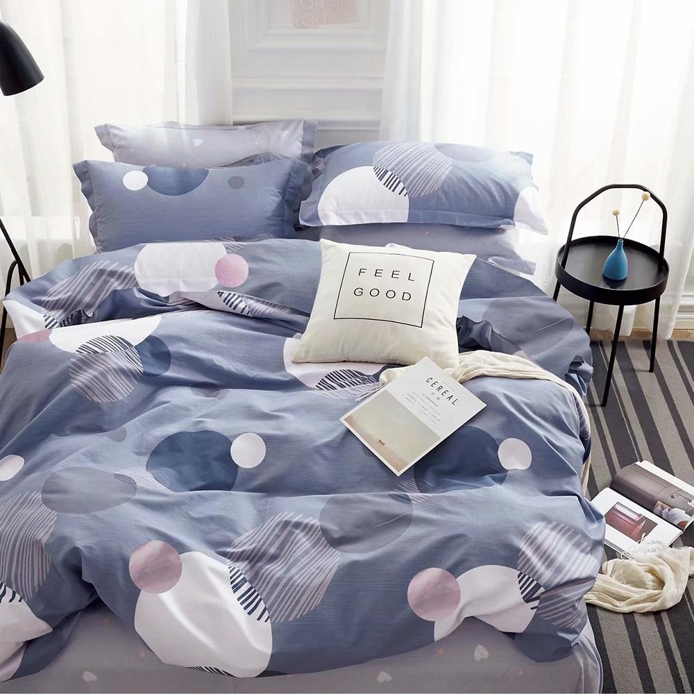 3-HO-雪紡棉 雙人床包/枕套 三件組-小生活