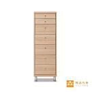 【輕品巧室-綠的傢俱集團】簡約機能七抽斗櫃-橡木色(邊櫃/收納櫃)