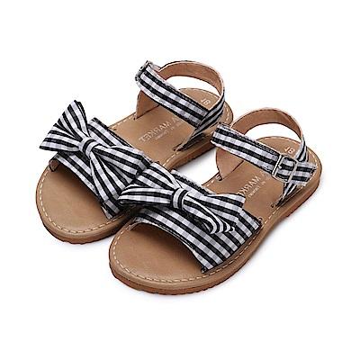 BuyGlasses 日系格紋兒童涼鞋-黑