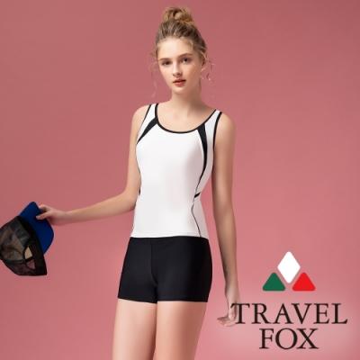 TRAVEL FOX夏之戀大女長版二件式泳衣