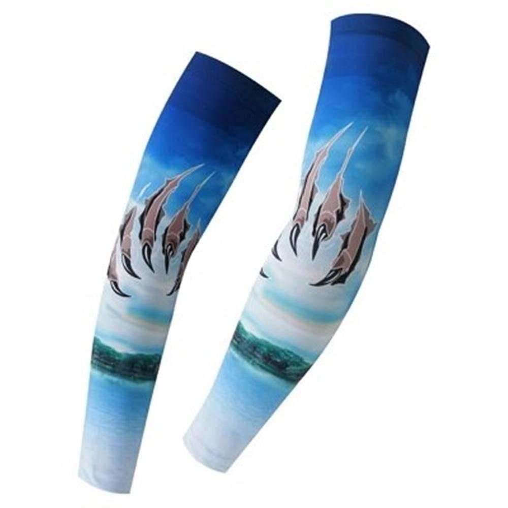 米蘭精品 防曬袖套運動袖套-舒適速乾抗紫外線時尚路跑登山健走自行車袖套臂套73fm51