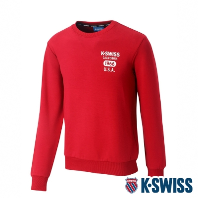 K-SWISS 1966 Sweatshirt圓領長袖上衣-女-深紅