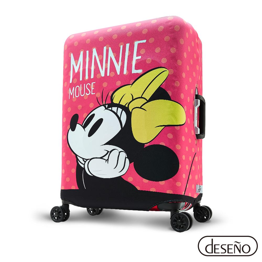 Disney迪士尼 MINNIE彈性箱套-少女夢想M號