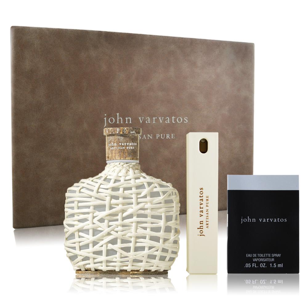 John Varvatos Artisan Pure 工匠純淨禮盒-淡香水+隨行香氛+針管