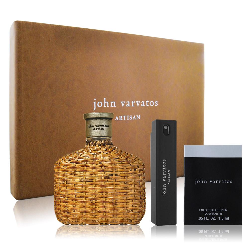 John Varvatos Artisan工匠藤編禮盒(淡香水125ml+隨行香氛+針管)