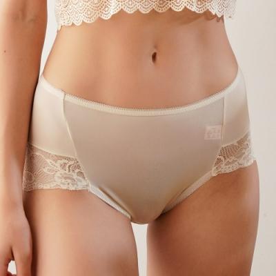 闕蘭絹法式棉花糖蕾絲100%蠶絲無痕褲(膚)-88910