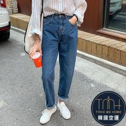 鬆緊老爺褲牛仔褲-TMH