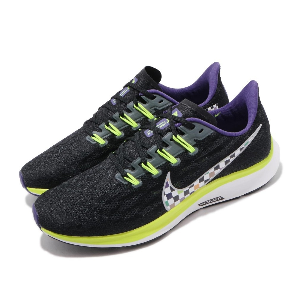 Nike 慢跑鞋 Zoom Pegasus 36 運動 男鞋 氣墊 避震 路跑 健身 小飛馬 穿搭 黑 彩 CQ4814071