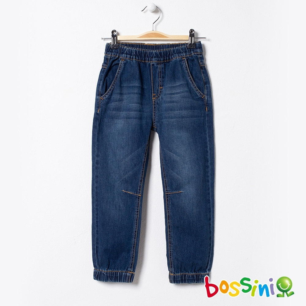 bossini男童-彈性輕鬆束口褲04牛仔藍