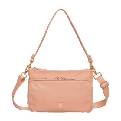 【Bella Borsa】多口袋兩用側背包-珊瑚橘 BB18A003CR