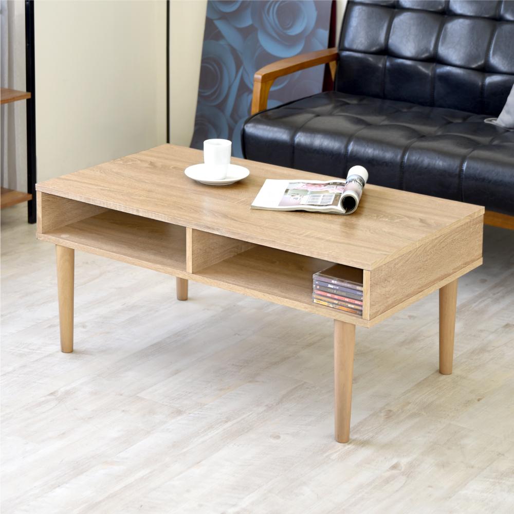 《HOPMA》實木腳大桌面茶几桌-寬90 x深50 x高40.5cm