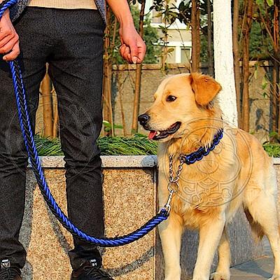 dyy》寵物升級版雙色項圈P鏈牽引繩-XL號粗2.5cm