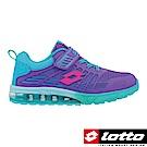 LOTTO 義大利 大童 KPU氣墊跑鞋(紫)